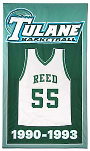 Custom made Tulane retired jersey banner