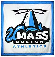 Hand-sewn University of Massachusetts logo banner