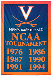 Appliqued University of Virginia Championship banner