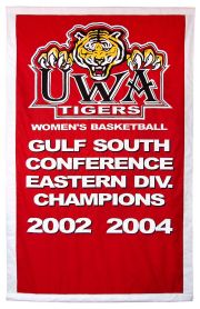Appliqued University of West Alabama Championship banner