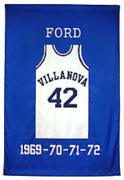 Custom Villanova retired number banner