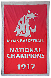 Applique Washington State University National Champions banner