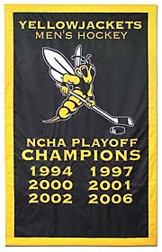 Yellowjackets NCHA Championship banner, add-a-year