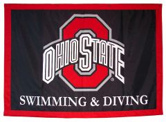Ohio State Swimming and Diving custom travel logo banner