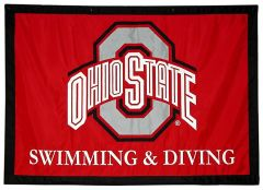 Ohio State Swimming and Diving applique travel logo banner