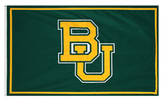 Baylor University custom applique logo flag