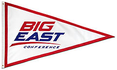 Big East Conference logo pennant, hand sewn