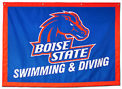 Custom Boise State Swimming and Diving travel banner