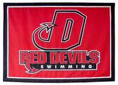 Dickinson Swimming custom travel logo banner