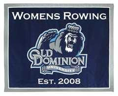 Old Dominion Rowing custom made logo banner