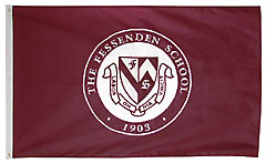 Fessenden custom school seal flag