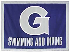 Georgetown Swimming and Diving hand-sewn travel banner