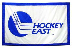 Hockey East Conference logo banner, hand-sewn fabric