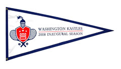Washington Kastles custom pennant