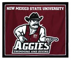 new mexico state custom logo travel banner