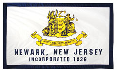 City seal custom banner for Newark, NJ