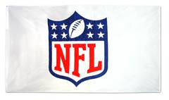 Applique National Football League logo flag