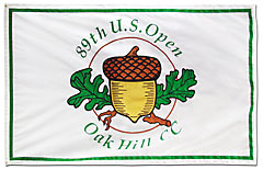 Applique flag: Oak Hill Country Club - 89th U.S. Open