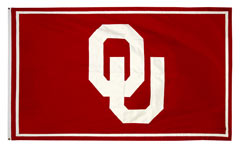 OU custom applique logo banner for conference banner set