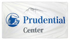 custom logo banner for Prudential Center