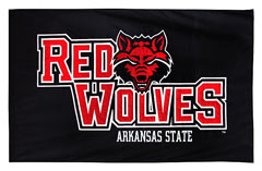 Arkansas State Redwolves applique spirit flag