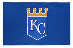 Kansas City Royals hand-sewn spirit flag