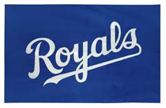 Kansas City Royals custom logo flag