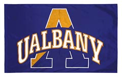 University of Albany applique spirit flag