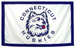 Hockey East Conference, University of Connecticut logo banner, applique
