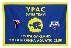 YPAC Swim Team applique travel banner