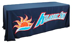 Hand sewn table throw: Atlantic Sun Conference