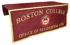 Custom table runner for Boston College