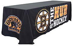 Custom applique table throw: Boston Bruins, the Hub of Hockey
