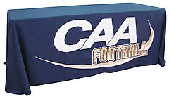 Custom sewn table throw: CAA Football