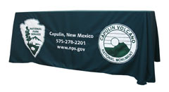 Custom table throw: Capulin, New Mexico