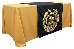 Custom table runner with school seal