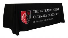 phoenix culinary school custom table banner