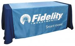 Custom made Fidelity Investments table cover