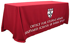 Custom tablecloth for Harvard
