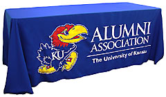 Custom table throw for KU Alumni Association