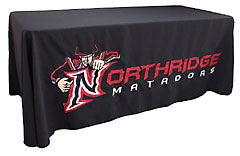 Custom applique table throw: Northridge Matadors
