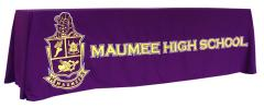 Maumee High School custom table throw
