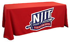 Hand sewn table throw: NJIT Highlanders