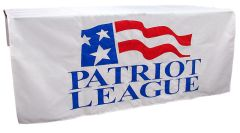 Hand sewn table cover: Patriot League