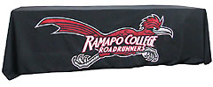 Applique table throw: Ramapo College Roadrunners