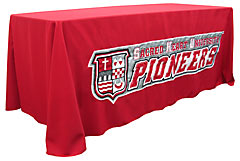 Applique table throw: Sacred Heart Unversity Pioneers
