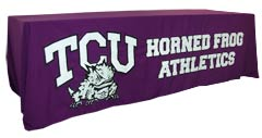Applique table throw: TCU Horned Frog Athletics