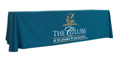 Custom golf club logo table throw