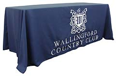 Custom tablecloth with a logo