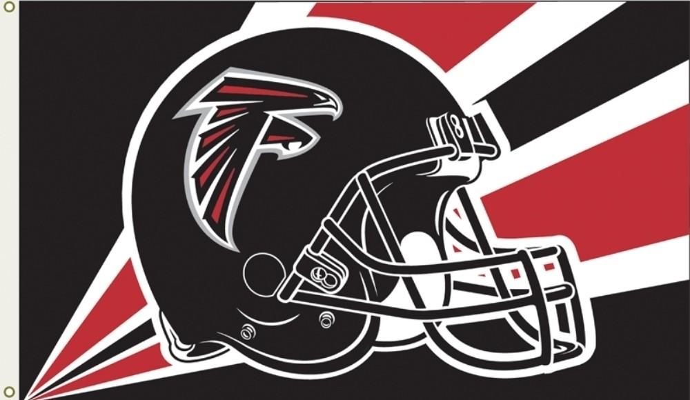 Atlanta Falcons Helmet Logo Flag, 3x5\'